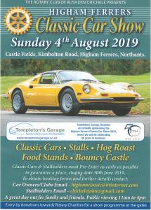Higham Ferrers Classic Car Show @ Castle Fields | Higham Ferrers | England | United Kingdom